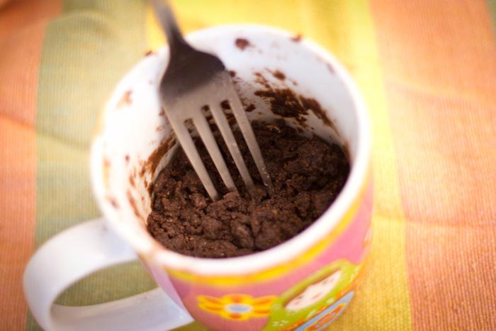čokoladni kolač iz mikrotalasne